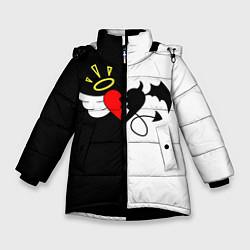 Куртка зимняя для девочки ASTRALIS цвета 3D-черный — фото 1