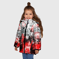 Куртка зимняя для девочки One-Punch Man Collage цвета 3D-черный — фото 2