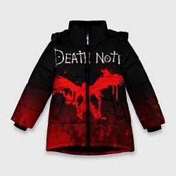 Куртка зимняя для девочки ТЕТРАДЬ СМЕРТИ цвета 3D-черный — фото 1