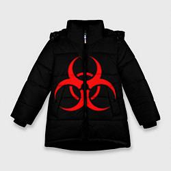 Куртка зимняя для девочки Plague inc цвета 3D-черный — фото 1