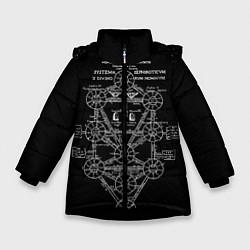 Детская зимняя куртка для девочки с принтом EVa-updown, цвет: 3D-черный, артикул: 10206831706065 — фото 1
