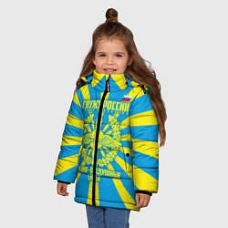 Куртка зимняя для девочки Военно - воздушные силы цвета 3D-черный — фото 2