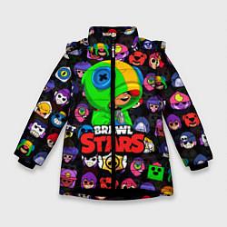 Куртка зимняя для девочки BRAWL STARS LEON цвета 3D-черный — фото 1