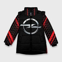 Куртка зимняя для девочки Opel цвета 3D-черный — фото 1