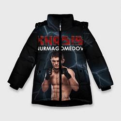 Куртка зимняя для девочки ХАБИБ цвета 3D-черный — фото 1