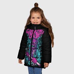 Куртка зимняя для девочки Conducting from the Grave цвета 3D-черный — фото 2