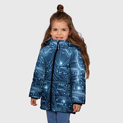Куртка зимняя для девочки Системная плата цвета 3D-черный — фото 2