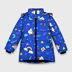 Куртка зимняя для девочки Magical unicorn цвета 3D-черный — фото 1