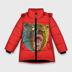 Куртка зимняя для девочки Little Big: Bear цвета 3D-черный — фото 1