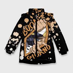Куртка зимняя для девочки JoJo Bizarre Adventure цвета 3D-черный — фото 1