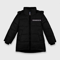 Куртка зимняя для девочки Поцелуи нашивка на спине цвета 3D-черный — фото 1