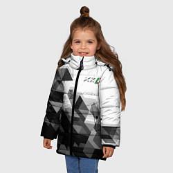 Куртка зимняя для девочки Jaguar XKR цвета 3D-черный — фото 2