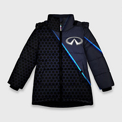 Куртка зимняя для девочки Infinity цвета 3D-черный — фото 1