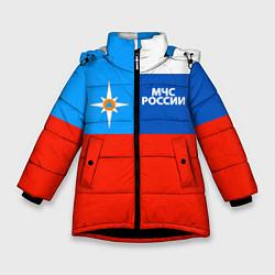 Куртка зимняя для девочки Флаг МЧС России цвета 3D-черный — фото 1