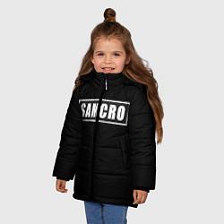 Куртка зимняя для девочки Soa цвета 3D-черный — фото 2