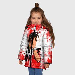 Детская зимняя куртка для девочки с принтом Juice WRLD, цвет: 3D-черный, артикул: 10212959906065 — фото 2