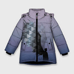Куртка зимняя для девочки Castiel цвета 3D-черный — фото 1