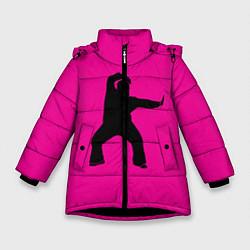Куртка зимняя для девочки Little Big: UNO цвета 3D-черный — фото 1