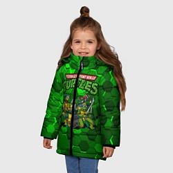 Куртка зимняя для девочки Черепашки-ниндзя цвета 3D-черный — фото 2