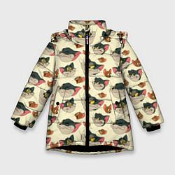 Куртка зимняя для девочки Tom: Pattern цвета 3D-черный — фото 1