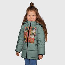 Куртка зимняя для девочки Cube Tom & Jerry цвета 3D-черный — фото 2