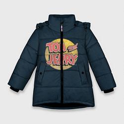 Куртка зимняя для девочки Tom & Jerry цвета 3D-черный — фото 1