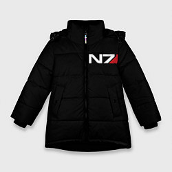 Куртка зимняя для девочки MASS EFFECT N7 цвета 3D-черный — фото 1