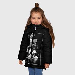 Куртка зимняя для девочки Death Note цвета 3D-черный — фото 2