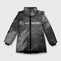 Куртка зимняя для девочки CITROЁN цвета 3D-черный — фото 1