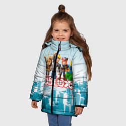 Куртка зимняя для девочки ROBLOX 5 цвета 3D-черный — фото 2