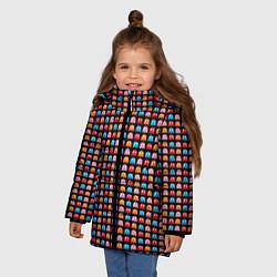 Куртка зимняя для девочки Pacman цвета 3D-черный — фото 2