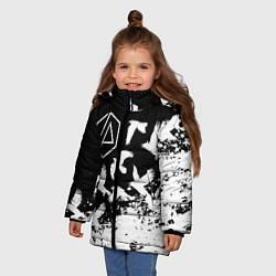 Куртка зимняя для девочки LINKIN PARK 1 цвета 3D-черный — фото 2