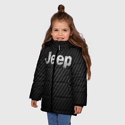 Детская зимняя куртка для девочки с принтом Jeep Z, цвет: 3D-черный, артикул: 10237245506065 — фото 2