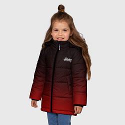 Куртка зимняя для девочки Jeep спина Z цвета 3D-черный — фото 2