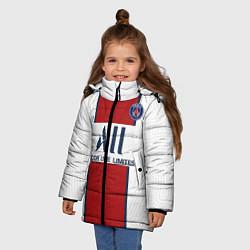 Куртка зимняя для девочки PSG away 20-21 цвета 3D-черный — фото 2