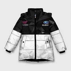 Куртка зимняя для девочки SUBARU WRX STI спина Z цвета 3D-черный — фото 1
