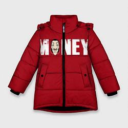 Куртка зимняя для девочки Money цвета 3D-черный — фото 1