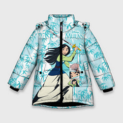 Куртка зимняя для девочки Mulan with a Sword цвета 3D-черный — фото 1