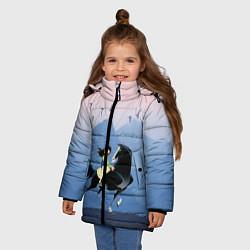 Куртка зимняя для девочки Mulan in the mountains цвета 3D-черный — фото 2