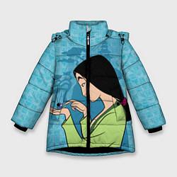 Куртка зимняя для девочки Mulan and Cri-Kee цвета 3D-черный — фото 1