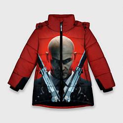 Куртка зимняя для девочки HITMAN цвета 3D-черный — фото 1