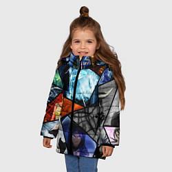 Куртка зимняя для девочки ANIME цвета 3D-черный — фото 2