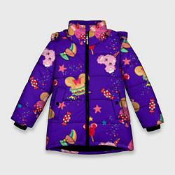 Детская зимняя куртка для девочки с принтом Минни Маус, цвет: 3D-черный, артикул: 10250076706065 — фото 1