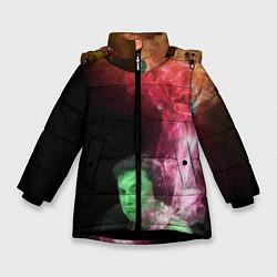 Куртка зимняя для девочки ПРИШЕЛЕЦ цвета 3D-черный — фото 1