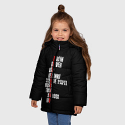 Куртка зимняя для девочки БУМАЖНЫЙ ДОМ цвета 3D-черный — фото 2