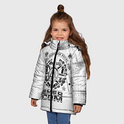 Куртка зимняя для девочки RUSSIAN EMERCOM цвета 3D-черный — фото 2