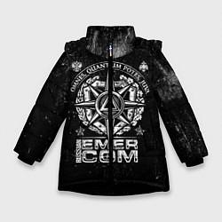 Куртка зимняя для девочки RUSSIAN EMERCOM цвета 3D-черный — фото 1