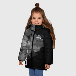 Куртка зимняя для девочки OPEL цвета 3D-черный — фото 2