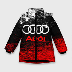Куртка зимняя для девочки AUDI цвета 3D-черный — фото 1