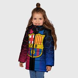 Куртка зимняя для девочки BARSELONA цвета 3D-черный — фото 2